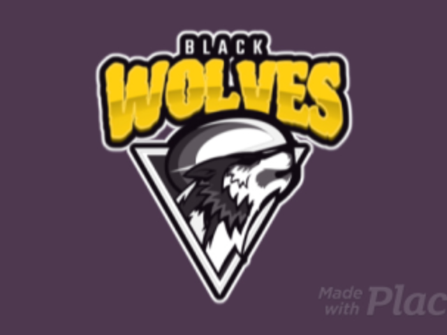 Rugby Logo Creator with a Fierce Wolf Icon 120n-2862