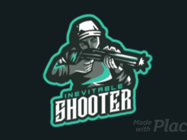 Animated Gaming Logo Maker Featuring a Character with a Shotgun 1743q-2860