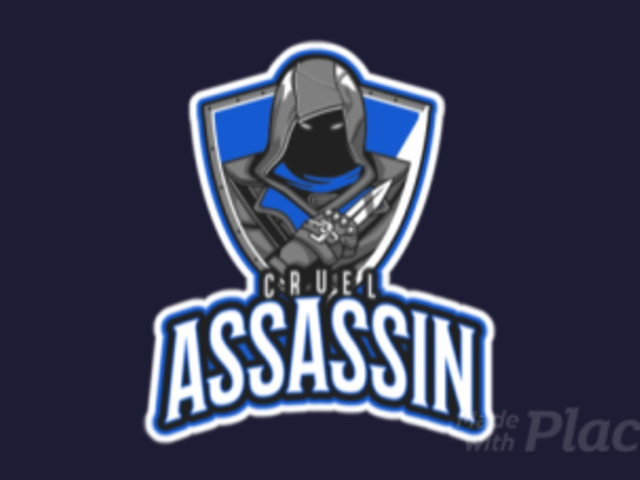 Animated Gaming Logo Maker Featuring a Hooded Assassin a29l-2860