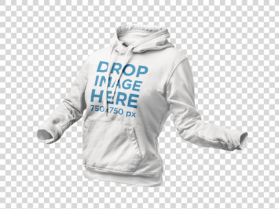 Invisible Model PNG Mockup of a Women's Hoodie a9140