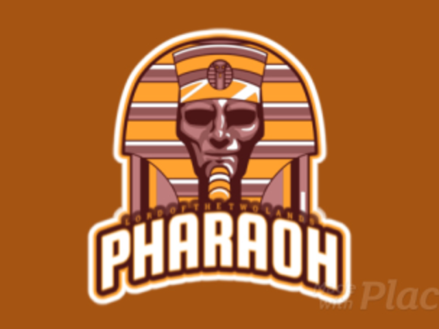 Animated Sports Logo Generator Featuring a Pharaoh Illustration 523n-2858
