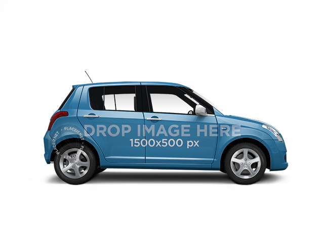 PNG Car Wrap Mockup Featuring a Suzuki Swift 11661