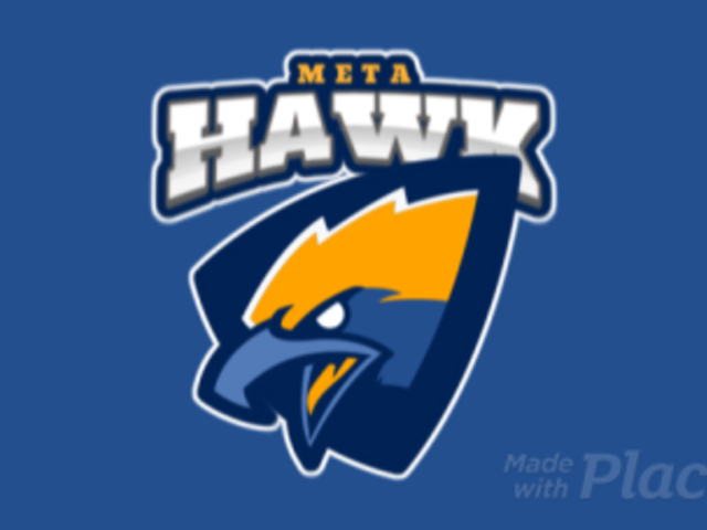 Animated Sports Logo Template Featuring an Aggressive Hawk Clipart 120s 2856