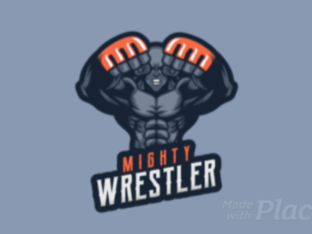 Animated Gaming Logo Template with an Aggressive Wrestler Character 1747z 2856