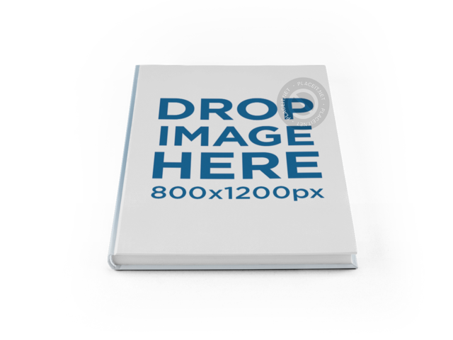 Hardcover Book PNG Mockup on a Surface a11610