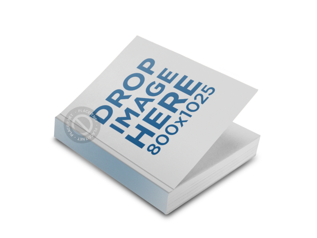 PNG Mockup of a Paperback Book Lying Over a Surface 11613
