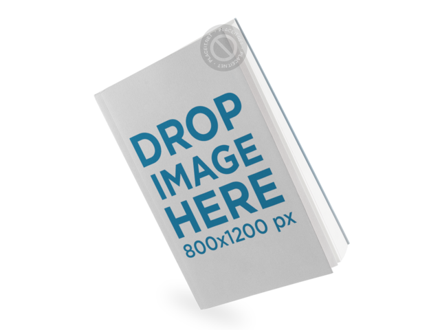 Book Mockup Over a Transparent Background in Angled Position a11619