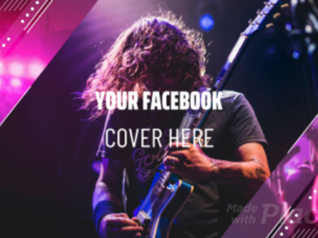 Music-Themed Facebook Cover Video Maker Featuring Geometric Animated Transitions 1779