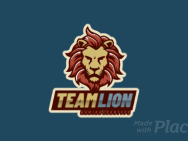 Logo Template for a Gaming Team Featuring an Animated Royal Lion 2704j-2880