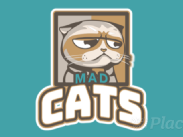 Gaming Logo Generator Featuring an Animated Mad Cat Illustration 523o-2880