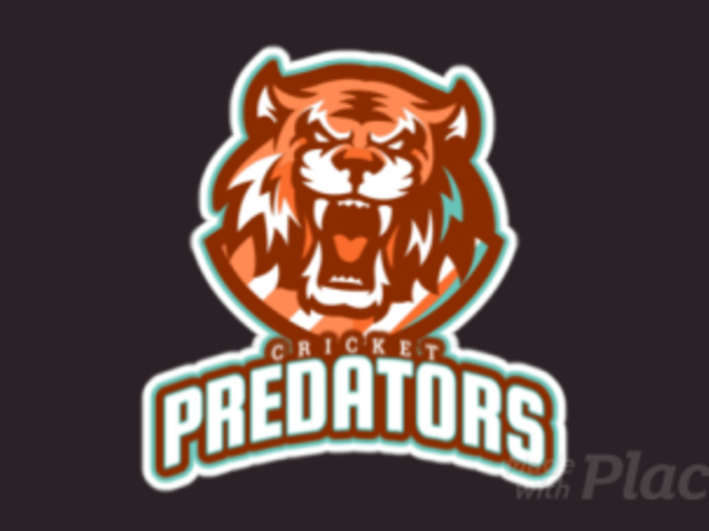 Animated Cricket Logo Template Featuring a Roaring Tigers Face 1651g-2880