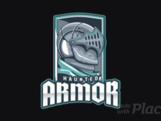 Animated Logo Template Featuring a Medieval Soldier with a Haunted Armor 1877i-2880