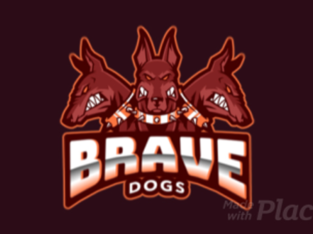 Animated Logo Maker for a Gaming Squad Featuring Three Aggressive Dogs 383dd-2280