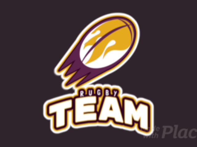 Sports Logo Template for a Rugby Team with an Animated Flaming Ball 1616i-2880
