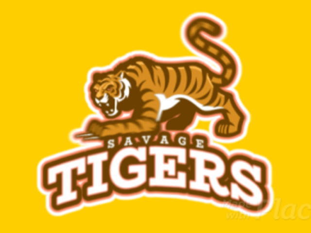 Sports Team Animated Logo Creator with a Savage Tiger Graphic 21y-2893