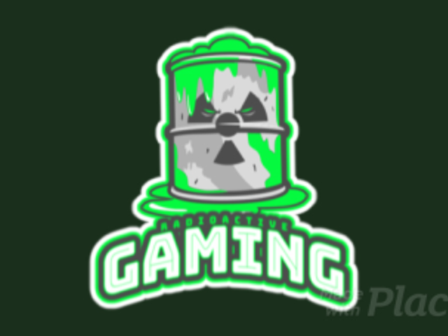 Animated Gaming Logo Template Featuring a Radioactive Barrel 523y-2882