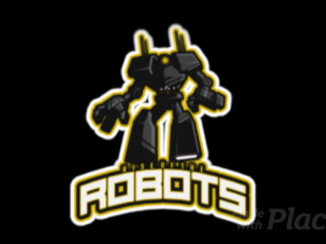 Animated Gaming Logo Template Featuring a Giant Robot Illustration 523gg-2883