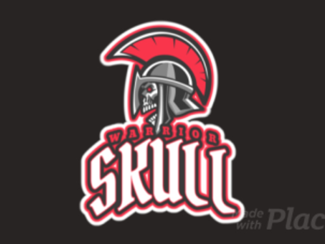 Animated Gaming Logo Template Featuring a Skull with a Roman Centurion Helmet 2620p-2883