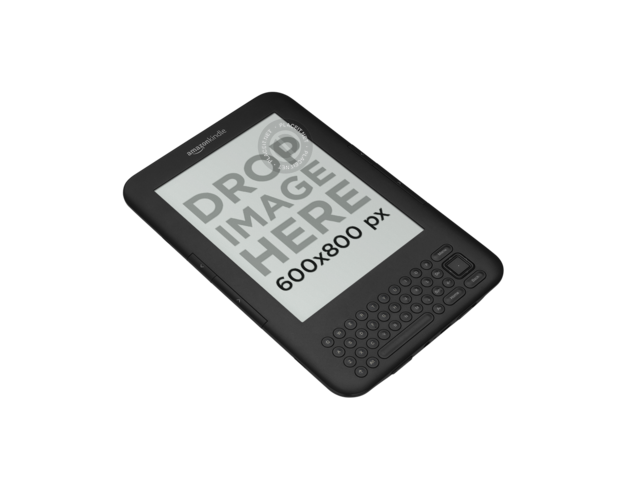 Kindle with Keyboard Mockup Over a PNG Background a11819