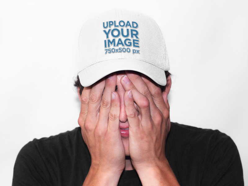 dad hat mockup template
