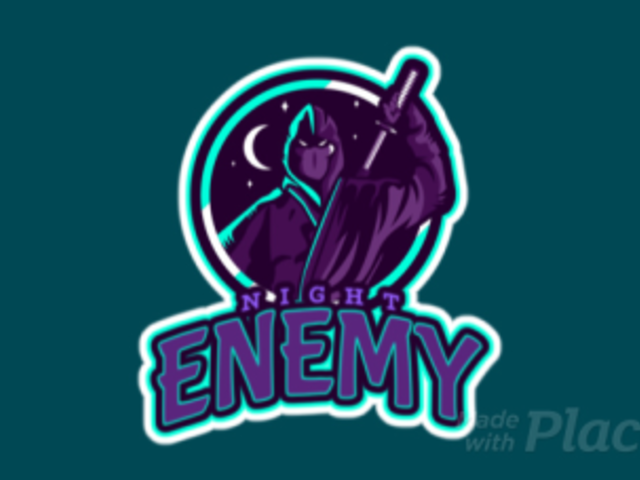 Animated Gaming Logo Template Featuring a Nocturnal Ninja Character 1746j-2933