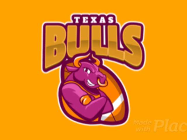 Animated Sports Logo Maker for a Rugby Team Featuring a Bull Character 1619j-2933