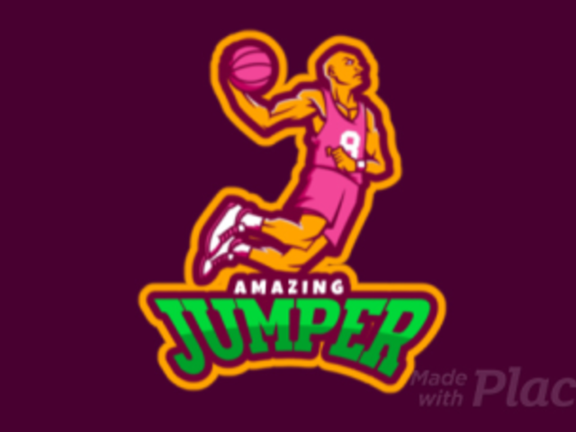 Animated Basketball Logo Maker with a Player Doing a Slam Dunk a336s-2933
