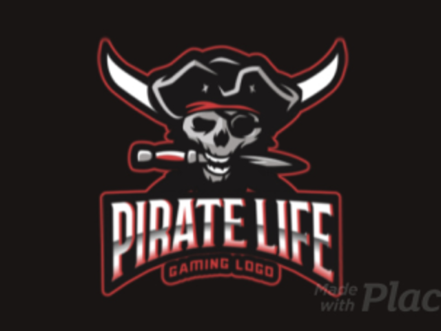 Animated Gaming Logo Template with a Pirate Skull Holding a Knife 2811aa-2927