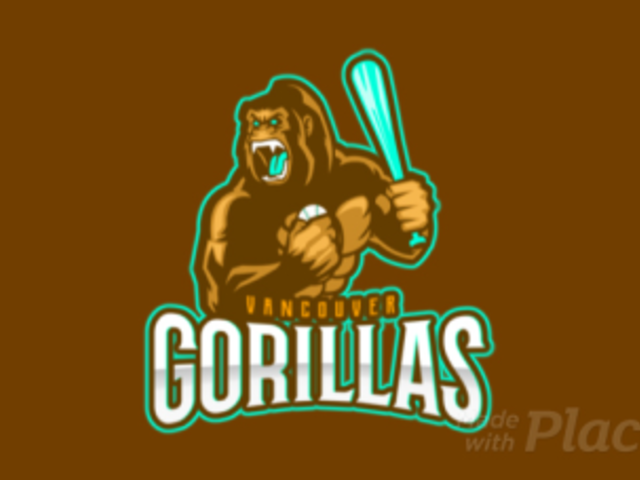 Animated Baseball Logo Generator for a Sports Team With an Angry Gorilla Clipart 172kk-2932