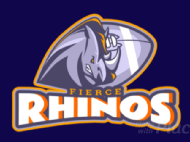 Animated Football Logo Template Featuring an Aggressive Rhino Illustration 1748s-2932