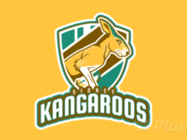 Animated Rugby Logo Maker with a Strong Kangaroo Mascot 1616m-2930
