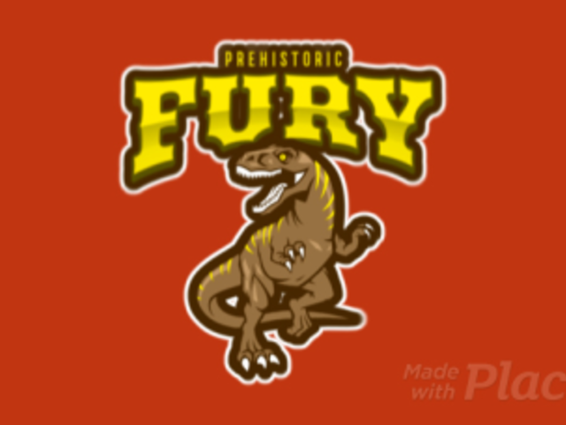 Animated Gaming Logo Creator Featuring a T-Rex 120mm-2932