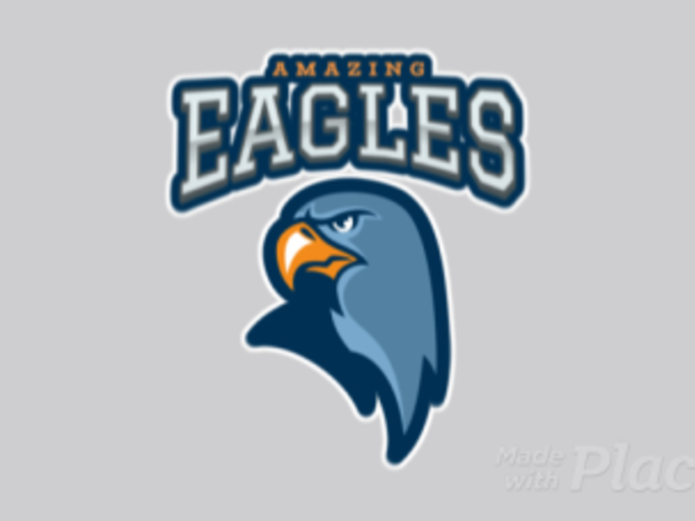 Animated Sports Logo Creator Featuring an Aggressive Eagle 120pp-2927