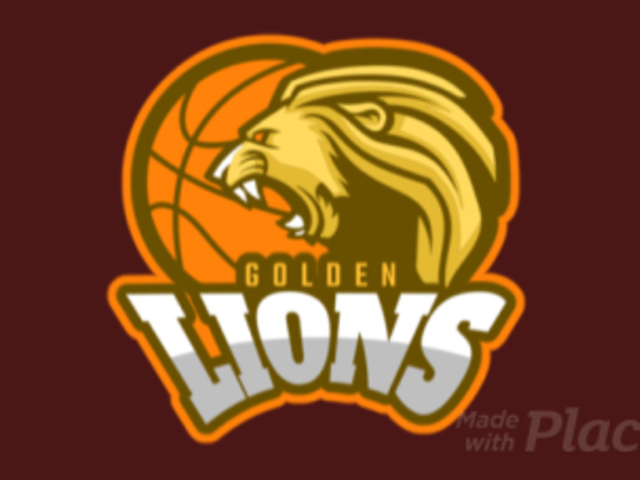 Animated Basketball Logo Maker Featuring a Roaring Golden Lion 336v-2937