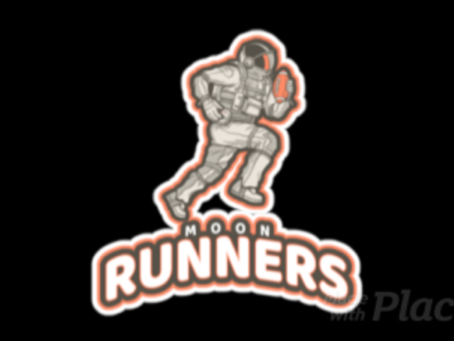 Football Logo Generator Featuring an Animated Running Astronaut a245vv-2936
