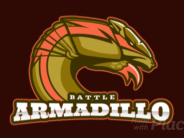Animated Cricket Team Logo Maker Featuring an Aggressive Armadillo 1649k-2936