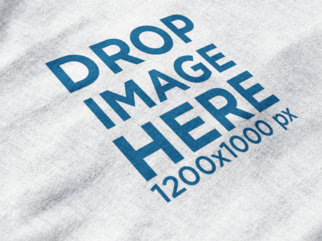 Round Neck Tee Mockup in Close-Up View a12011