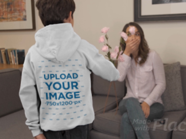 Hoodie Video of a Kid Surprising His Mom with Roses 32336