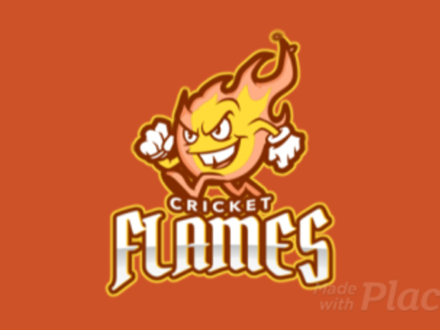 Cricket Logo Maker Featuring an Animated Cartoonish Flame 1649o-2964