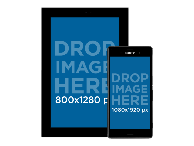 android phone png. android galaxy tablet with phone responsive mockup over a png background a11881 png