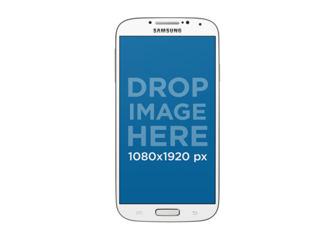White Samsung Phone Mockup Over a PNG Background a11975
