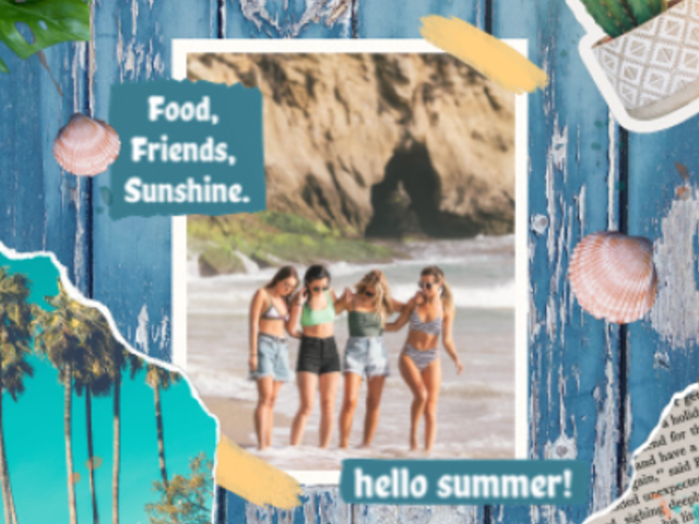 Instagram Video Maker for a Summer-Themed Post With Stop Motion Animations 1727