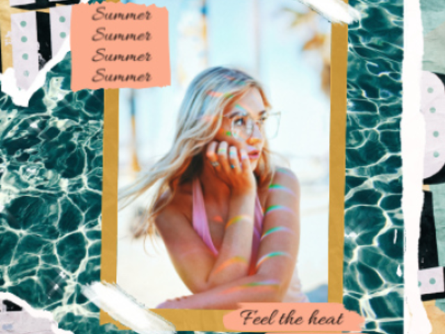 Instagram Post Video Maker with a Summer-Themed Layout 840