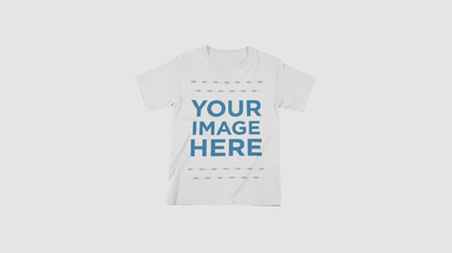 T-Shirt Stop Motion Video Mockup of a Round Neck Tee Moving Around Over a White Surface a13272-122216