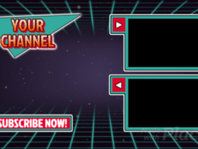 YouTube End Screen Video Maker with a Retro Futuristic Style 1347-el1