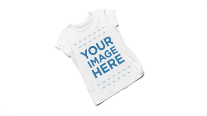 Stop Motion Round Neck T-Shirts Mockup Video of 4 Tees Piling Up a13278-122316