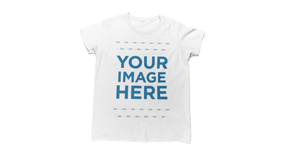 T-Shirt and a Pretty Girl Against a White Background Stop Motion Video Mockup a13241