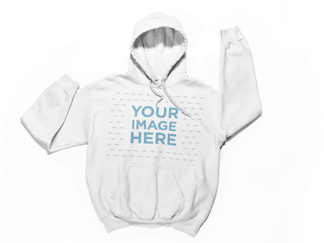 Moving Pullover Hoodie On Same Spot On White Surface Stop Motion Mockup a13152