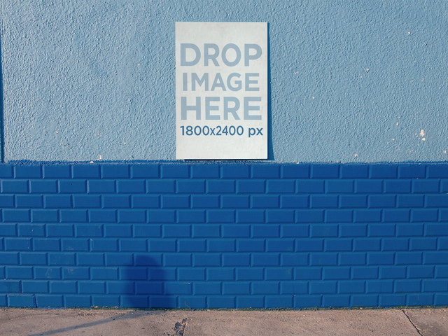 Stop Motion Of A Poster Hanging On Street Wall While Man Walking By b13657