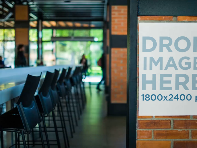 Video Of A Poster Outside A Cafe Mockup a13890